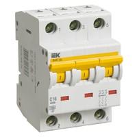 Автоматический выключатель ВА 47-60 3Р 3А 6 кА  х-ка С IEK