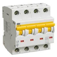 Автоматический выключатель ВА 47-60 4Р 1А 6 кА  х-ка С IEK