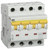Автоматический выключатель ВА 47-60 4Р 5А 6 кА  х-ка С IEK